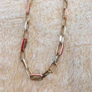 Brass/coloured enamel necklace, Banana Republic